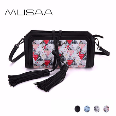 beb6ad20fc35 store MUSAA Fresh Simple Small Sling Shoulder Bag for Women PU Leather  Crossbody Bags Detachable Har