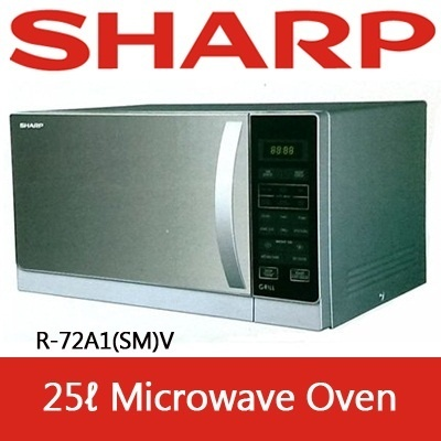 Qoo10 r 72a1 smv small appliances microwavesharp r 72a1smv 25l microwave oven fandeluxe Images