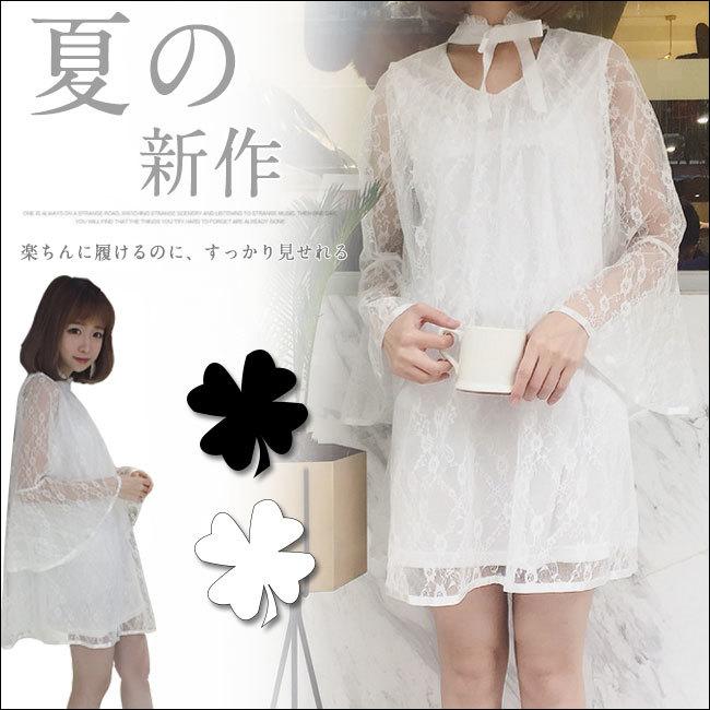 夏日新作レディースワンピース 無地 Vネックドレス  韓国ファション フレアスリーブゆったりワンピース 体のラインが美しい セクシー 優良品質の材料 柔らかい 誰にも似合う Vネックドレス