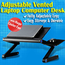 ⏰⚡💪【BEST SELLER】Multi Functional Adjustable Vented Foldable Laptop Table Stand / Tray for Sofa