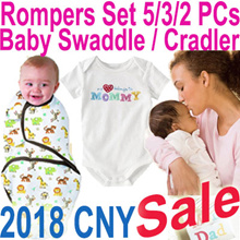 ★Baby Rompers Set / Swaddle Infant Wrap Sleeping Bag★ 2018 School Holiday Sale 80% Off