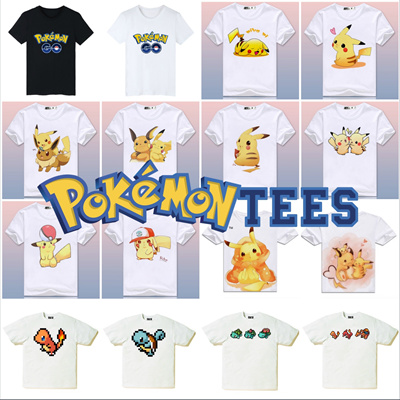ec42b74e6 Pokémon Tees Collection 2 ☆ Many Designs! Unisex Pocket Monsters Pikachu  Family T-