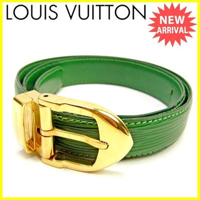 436461a9b43c Louis Vuitton Louis Vuitton Belt Men  s Available Saint - Couture Classic  Epi Borneo Green