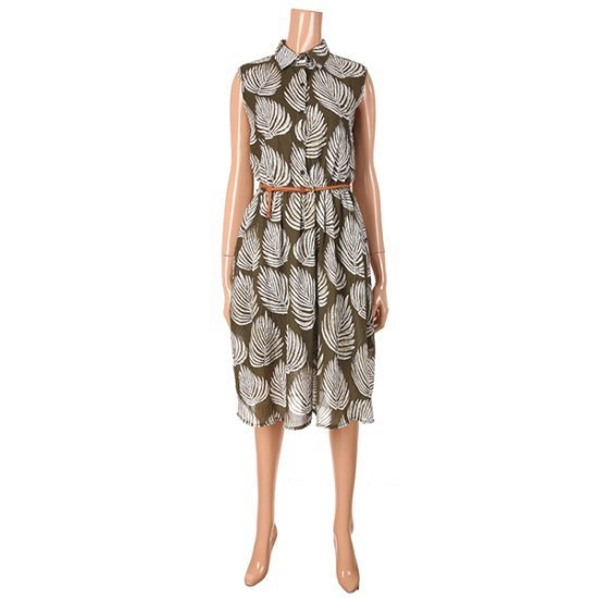 ロティニLOTINI木の葉OPSベルトH7506WOP 面ワンピース/ 韓国ファッション