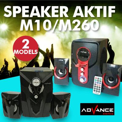ADVANCE Speaker Aktif M10 Bluetooth / M260 Bluetooth (TERMURAHH GAN!