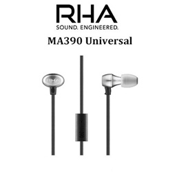 RHA MA390 Universal Noise Isolating In-Ear Headphone with remote and mic