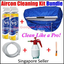 Aircon Cleaner Bundle★Air Conditioner Con Servicing Cleaning Washing Bag M L Size★Foam Spray