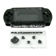 Black Full Housing Repair Mod Case + Buttons Replacement for Sony PSP 1000 Console