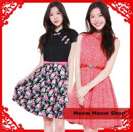 Printed Cotton Dress cheongsam collection CNY Dresses
