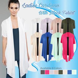 Basic Women Tshirt and Cardigan - Short Sleeve - Long Sleeve - Baju Wanita - Baju Hangat Wanita