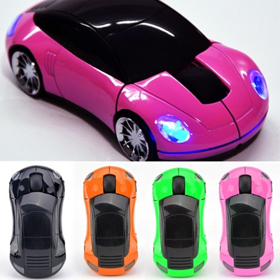 For Laptop PC 1800DPI USB 2.4G Wireless Optical Mouse Mice Car Shaped WIZH