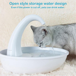 19 New Swan Pet Water Dispenser Cat Feeding Water Flowing Fountain Cat With Water Dispenser Automati