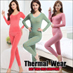 【New Arrivals】Winter Thermal Inner Wear(Thick)10 to 25 degree celsius/Women/Men/Childen/Couple Warm Clothing Innerwear Unisex Underw PLUS