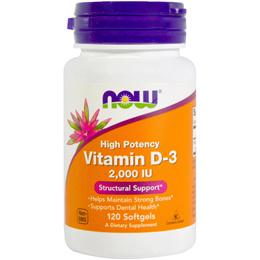 Now Foods Vitamin D-3 2000 / 5000 IU 120 Softgels