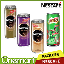 [NESCAFE] CLEARANCE SALES Pack of 6 ★ Ready to Drink Coffee ☆ Original/ Mocha/ Latte/ Milo