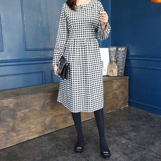モニカルームカラチェックopsワンピース 綿ワンピース/ 韓国ファッション