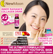 Apply Cart Coupon $12 = $53 (10+10) bottles x 50ml New Moon Inner Radiance Collagen drink