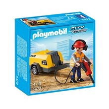 Playmobil construction site 5472 Rock drone and workers