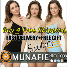 [Special Sales Today!BUY 4 FREE SHIPPING] MUNAFIE Tops/5colors Comfy Slim Body Shaper /Munafie Tops/High elastic/