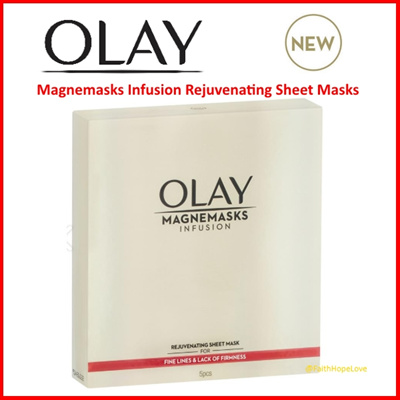 【OLAY】★ Magnemasks Infusion Rejuvenating Sheet Masks ★