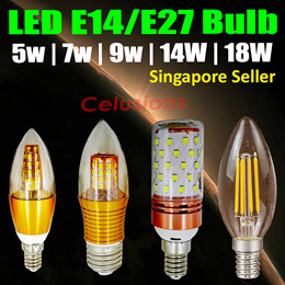 LED Candle Bulb Light★Cool Daylight | Warm-white★Ceiling Replacement★5W|7W|9W|14W|18W
