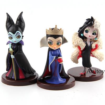 QPosket Characters Q Posket Petit Villains Evil Queen Maleficent Cruella De  Vil PVC Action Figure Co