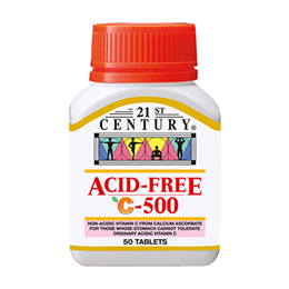 [21st Century] Acid-Free C 500mg 50 Tablets