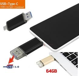 USB 3.0 OTG Dual Micro USB Flash Pen Thumb Drive Memory Stick for Phone PC 2TB (Color:black,gray,pin