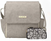 Petunia Pickle Bottom BBML-584-00 NEW! Boxy Backpack, Grey Leatherette