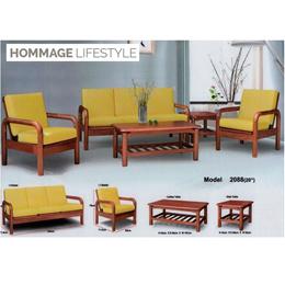 HOMM2088 Solid Wood Sofa with Cushion