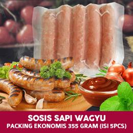 Sosis Sapi Wagyu / Wagyu Beef Sausage Packing Ekonomis 355 gram (isi 5pcs)