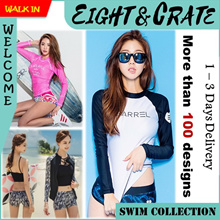 🇸🇬👙4-hrs delivery option👙[ Page 1] Swimsuit Rash Guard UV Sun Protection UPF50+ Swimming Wear