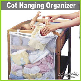 ★ Cot Hanging Organizers ★ Single or Multi Pockets! Store Babys Items Kids Toys See-Through Mesh Bag