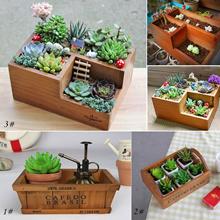 Wooden Garden Planter Trough Pot Window Box Succulent Flower Bed Pot