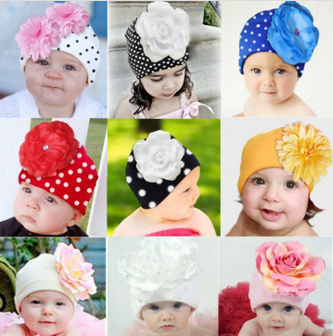 Winter Warm Infant Kids Baby Girl Flower Hat Beanie Cap Skullies Photo Props 3D