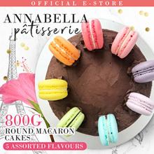 ❤800g Round Macaron Cakes - 5 Flavours [Vanilla Rainbow/Oreo/Salted Caramel/Chocolate/Pandan Kaya]❤