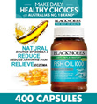 [BEST PRICE IN SG] BLACKMORES FISH OIL 1000MG 400 TABLETS. EXP 17/12/18