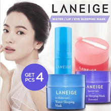 [ GET 4 PCS ] - LANEIGE WATER / LIP / EYE SLEEPING MASK