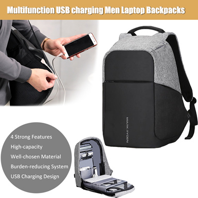 Multifunction USB charging Men 15inch Laptop Backpacks For Teenager Fashion  Male Mochila Leisure Tra a32168c3764c0