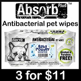 Absorb Plus anti-bacterial pet wipe (baby)