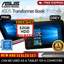 *Auction Deal*Asus T101HA Pink/Grey Transformer Notebook (Intel Z8350 2GB RAM 32GB HDD) Free Gift