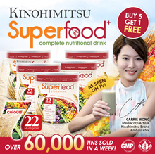 Kinohimitsu Superfood+ (500g/Tin) x 5 PACKS GET 1 FREE | 22 Multigrains Cereal Drink OVER 60000 SOLD