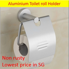 Toilet roll holder with Cover lid/ Aluminium Toilet paper holder/Bathroom shelf/Toilet rack/