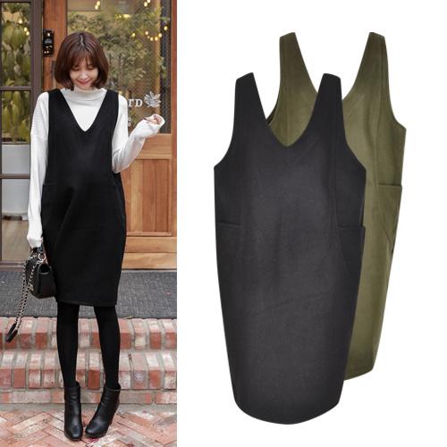 [SOIM] 韓国の高級ワンピース / フリーサイズ / ♥体型カバーになる♥ / 冬ワンピース / マタニティ ワンピース /  ファッション妊婦服 / 一般女性の着用可能!