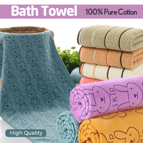 100% PURE COTTON BATH TOWEL Deals for only Rp29.000 instead of Rp29.000