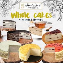 First Love Patisserie: $55 Nett for 1.3KG Large Whole Cakes 100% Handmade Hokkaido Thousand Layer