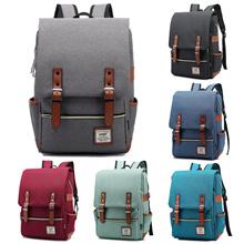 【TEEMI】 Premium Canvas Laptop Bag Korean Dual Belt Buckle Straps Vintage Men Backpack College