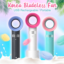 【FREE FAST SHIPPING】KOREA Bladeless Fan / USB Rechargeable / Portable USB Fan / LOCAL WARRANTY