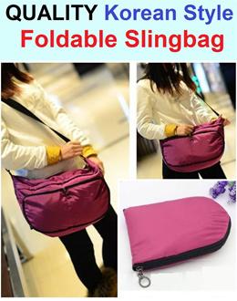 Quality Foldable Slingbag / Christmas Gift / Sling Bag / Cross Shoulder Bag / Korean Style / Light Weight / Soft Texture / Durable / Splash Proof / Portable / Travel / Multi Purpose