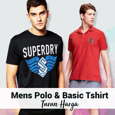 Best Seller Mens Polo and Basic V Neck Shirt Deals for only Rp50.000 instead of Rp50.000